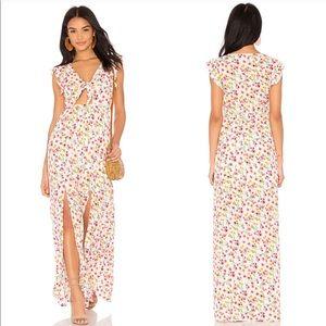 Jack by BB Dakota • Floral Tie Front Maxi Dress